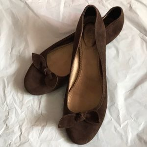 J Crew Made in Italy Brown Flat Ballet Shoes